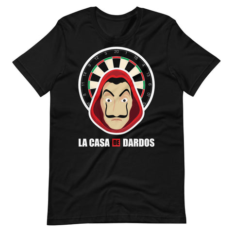 La Casa de Dardos Men's T-Shirt *(Dark Color) | Hamsah Darts - Hamsah Darts