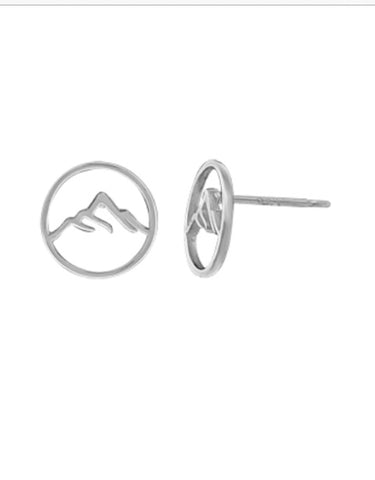Mountain Stud Earring