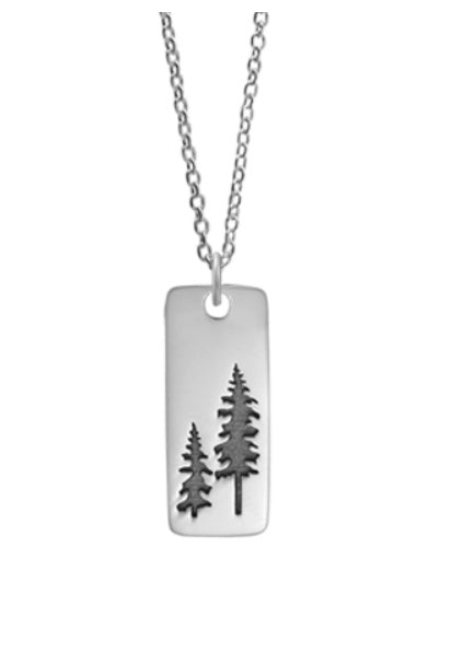 Tree Dog Tag Necklace