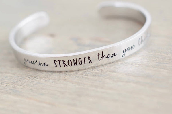 You're Stronger Than You Think Bracelet