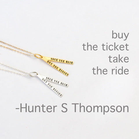 Buy the Ticket Necklace