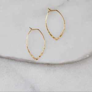 Hammered Marquise Earring- small