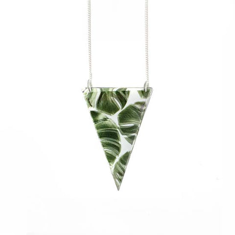 Mirror Triangle Palm Necklace