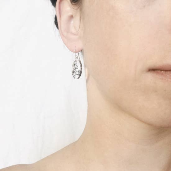 Small Oval Forest Earring