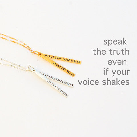 Speak the Truth Necklace