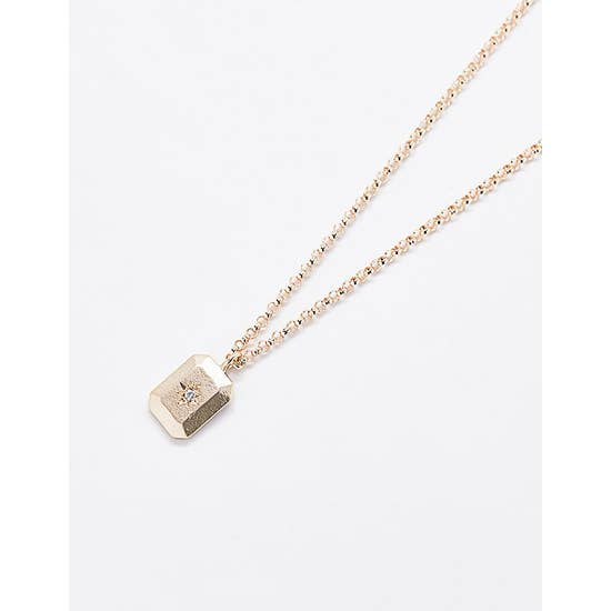 Rectangle Bar Star Pendant Necklace