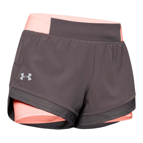 Under Armour Qualifier Speedpocket 2-in-1 Womens Short