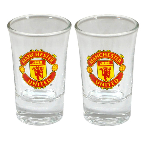 Manchester United FC Shot Glass (2 Pack)
