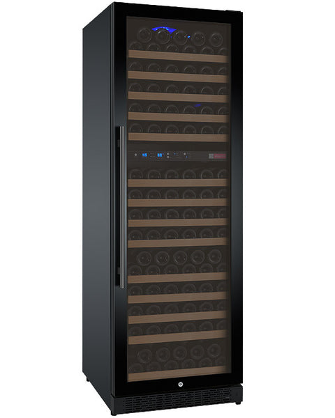 "Allavino 24"" Wide FlexCount Series 172 Bottle Dual Zone Black Right Hinge Wine Refrigerator Model: VSWR172-2BWRN"