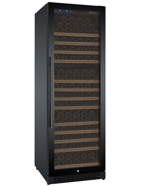 "Allavino 24"" Wide FlexCount Series 177 Bottle Single Zone Black Right Hinge Wine Refrigerator Model: VSWR177-1BWRN"