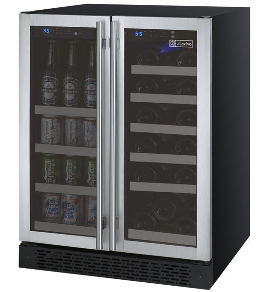 Allavino Flexcount 2 Door Wine Refrigerator Beverage