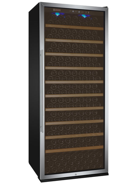 "Allavino 32"" Wide Vite Series 305 Bottle Single Zone Black Right Hinge Wine Refrigerator Model: YHWR305-1BRT"