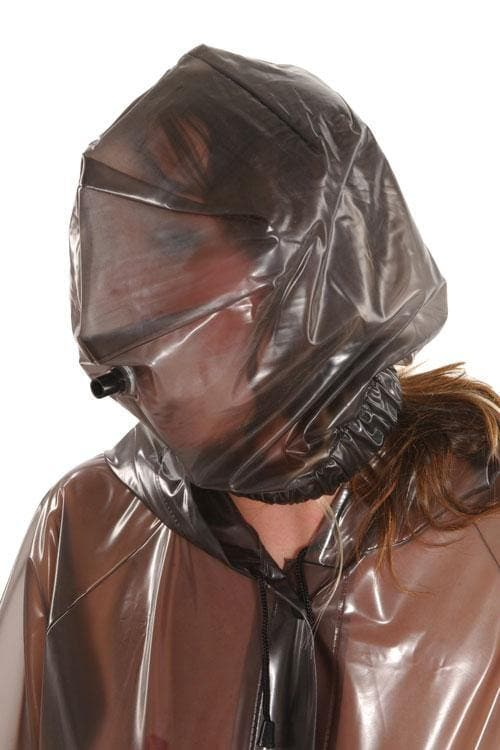 PVC hood mask elastic with breathing tube (HO10)
