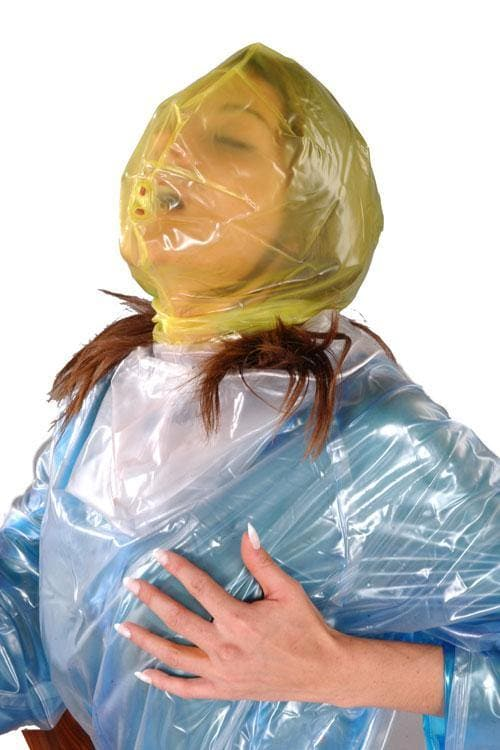 PVC hood mask with zipper and breathing hole (HO12)