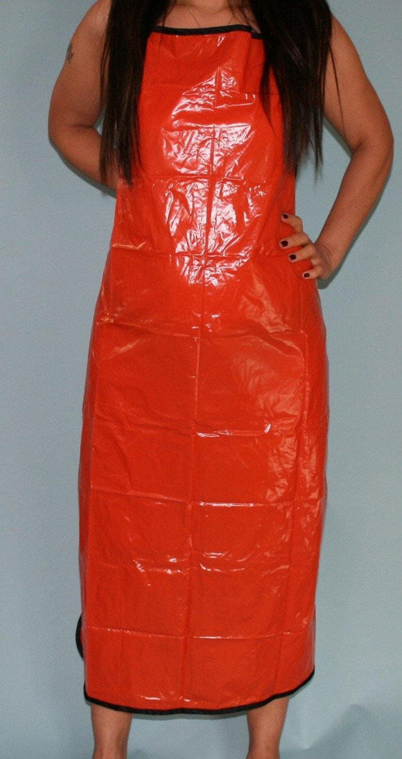PVC Schürze orange