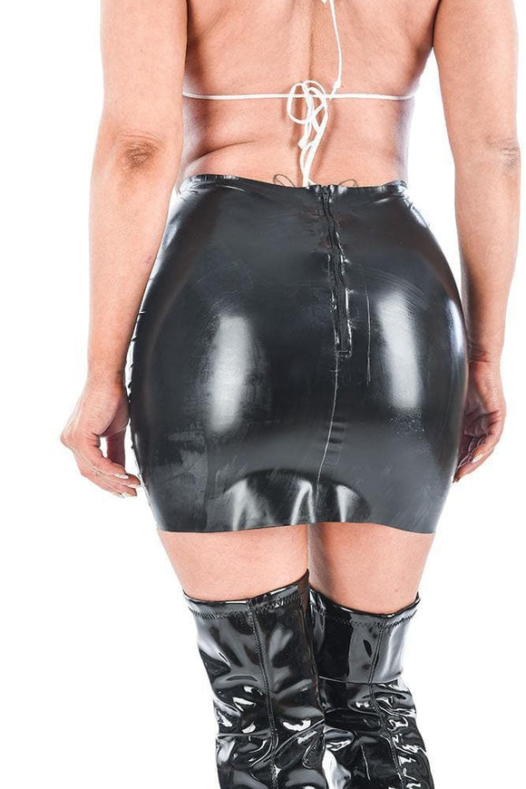 Damen Latex Mini Rock (SK19)