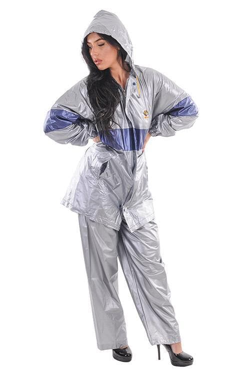 PVC rain jacket + pants in transparent size. L