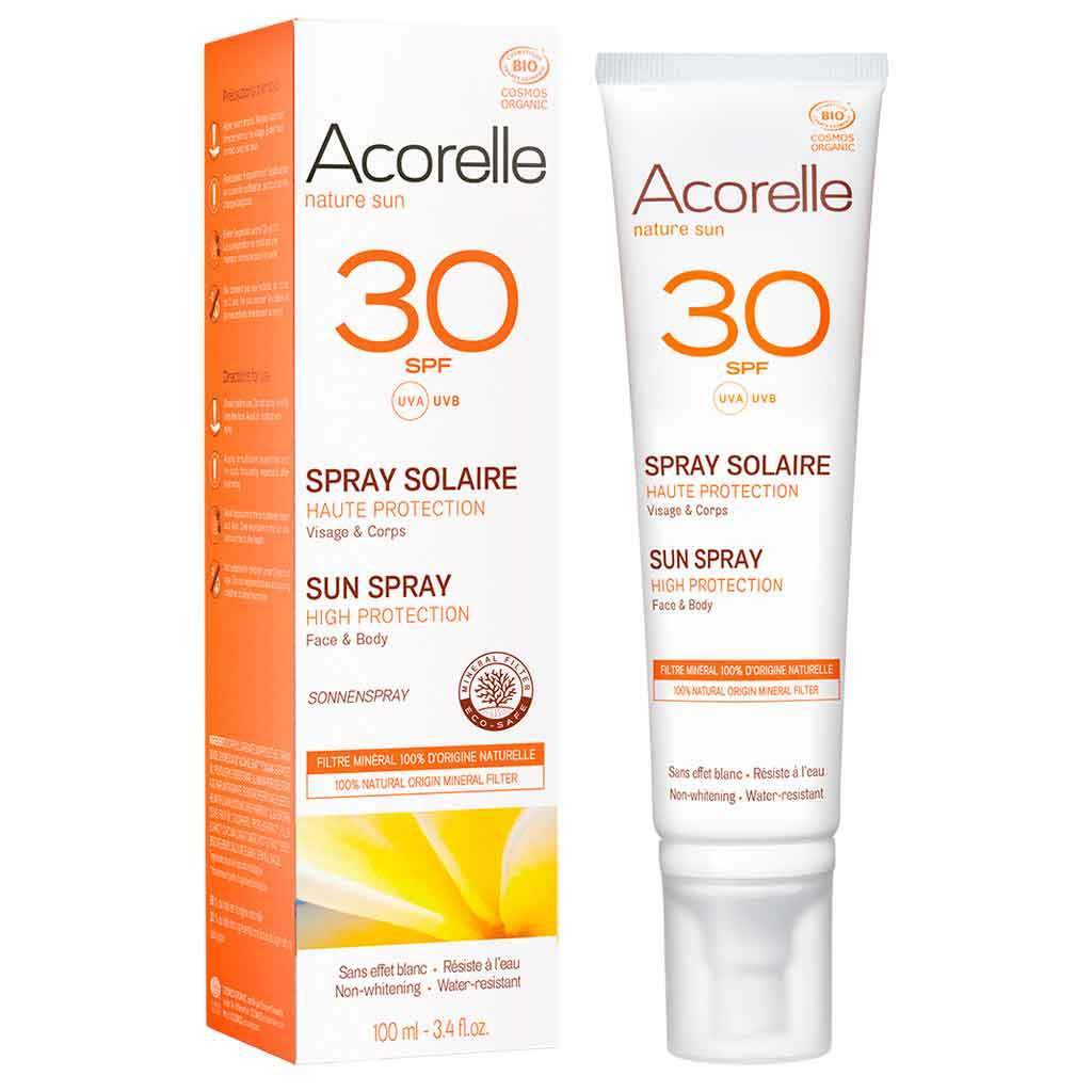 Acorelle Aurinkosuojaspray SPF30 100ml