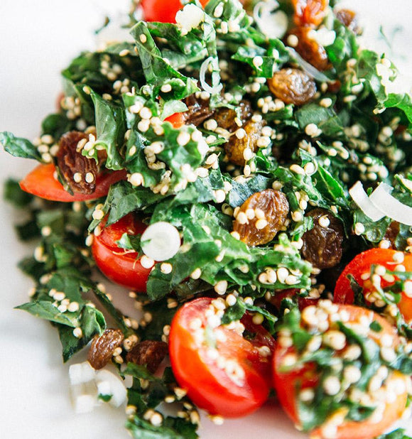 Kale salad with avocado and quinoa