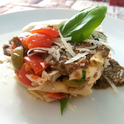 Truffle pasta with cherry tomatoes | Marqt.no
