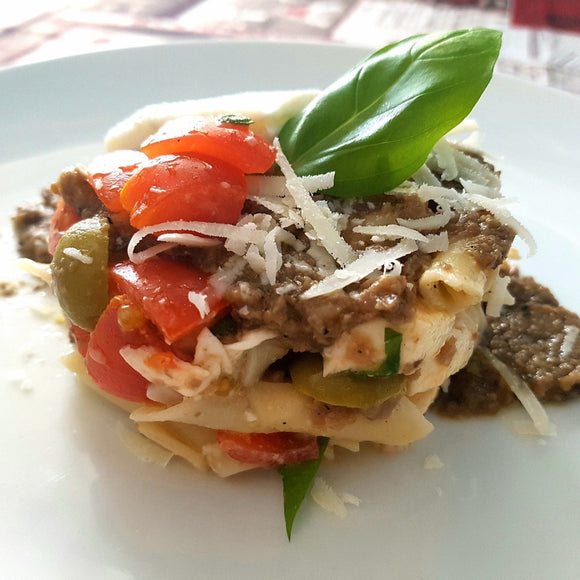 Truffle pasta with cherry tomatoes