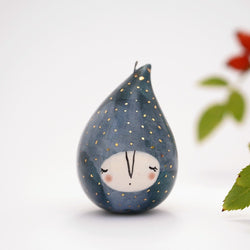 Handmade ceramic Christmas ornaments - droplet