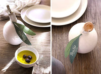 Extra virgin olive oil in a handmade ceramic bottle - Marqt.no