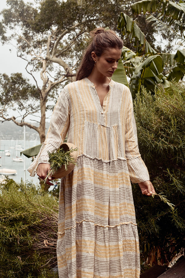 Maxi Sorrento Dress - Desert Stripe