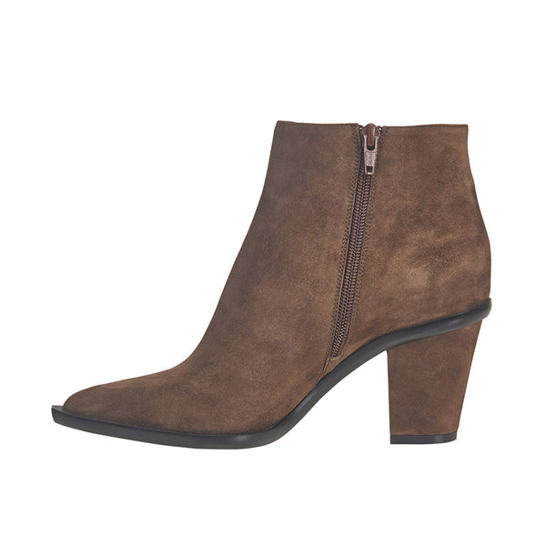 Stacked Heel Ankle Boot Bad Rose