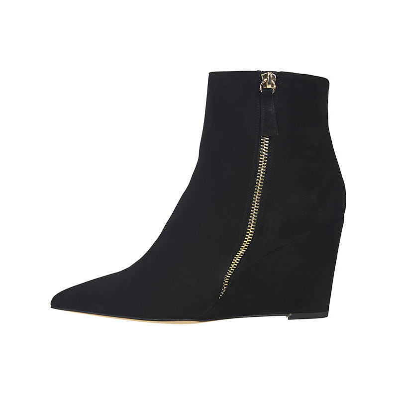 Winnie Wedge Boot Black