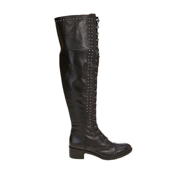 Farce Over the Knee Boot Black