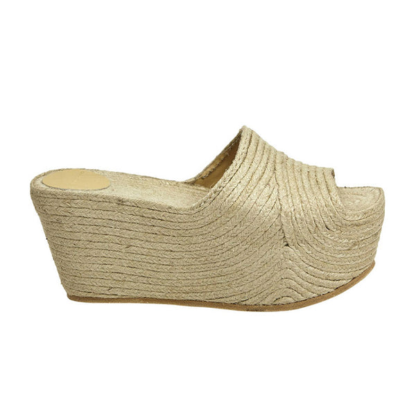 Woven Jute Wedge Natural