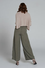 Farrah Cropped Turtleneck Natural