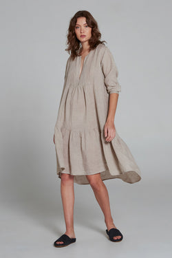 Midi Tier Dress Battista Natural