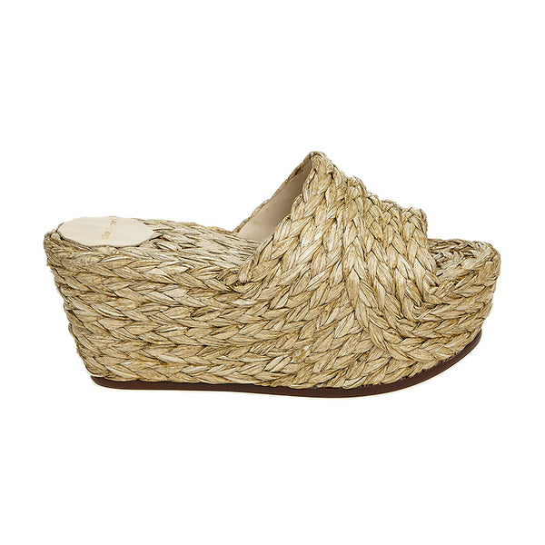 Natural Braided Wedge Natural