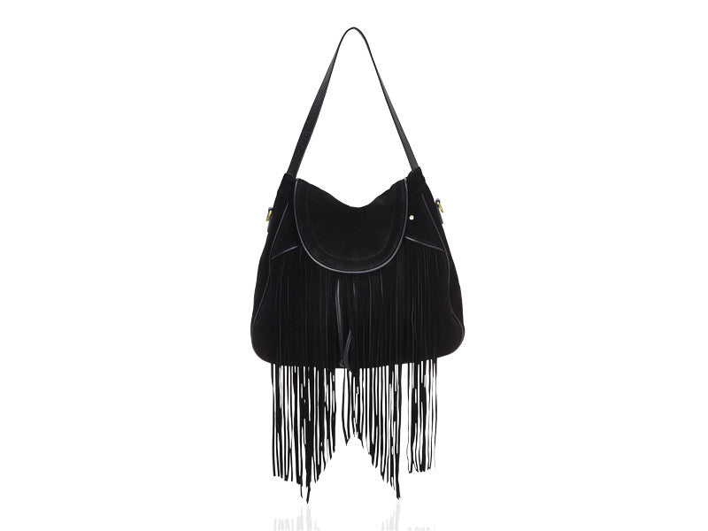 Fringe Shoulder Bag Black