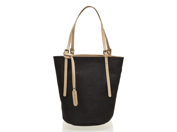 Linen Beach Tote Black