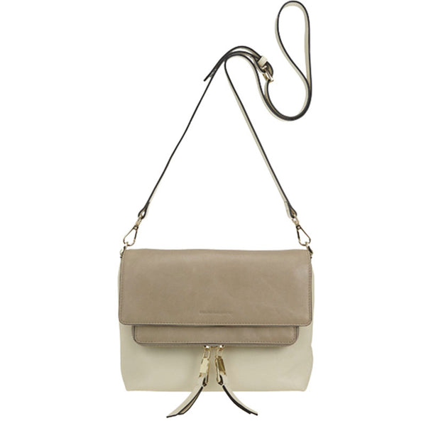 Chamber Crossbody Bag Ivory/Taupe