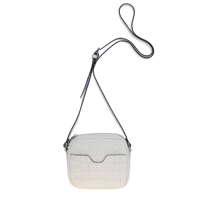Box Mini Bag White Croc