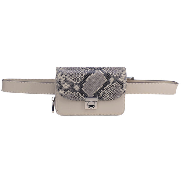 Audrey Belt Bag Fawn Snake