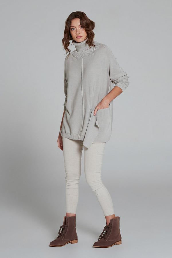 Ardour Maxi Pullover Turtleneck Pebble
