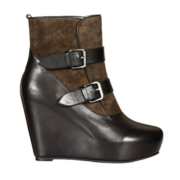 Ankle Wedge Military Boot