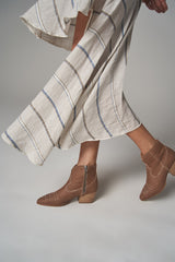 Linen Ranch Boot - Tan