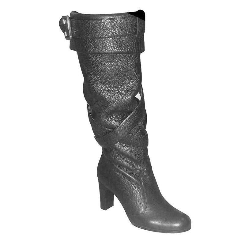 Slouch leather Boot