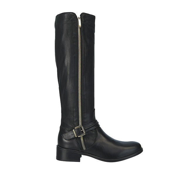 Captain Knee High Boot Black