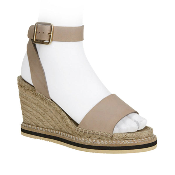 Piped Line Espadrille Taupe