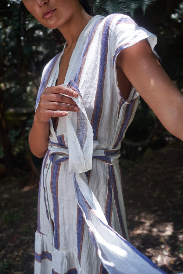 Romana Dress - Roma Stripe