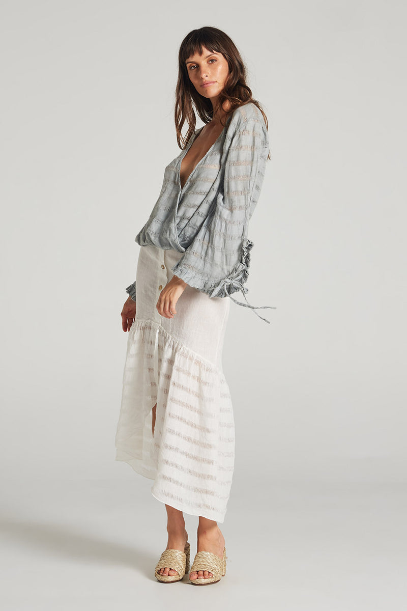 Croatia Skirt Panna White Stripe