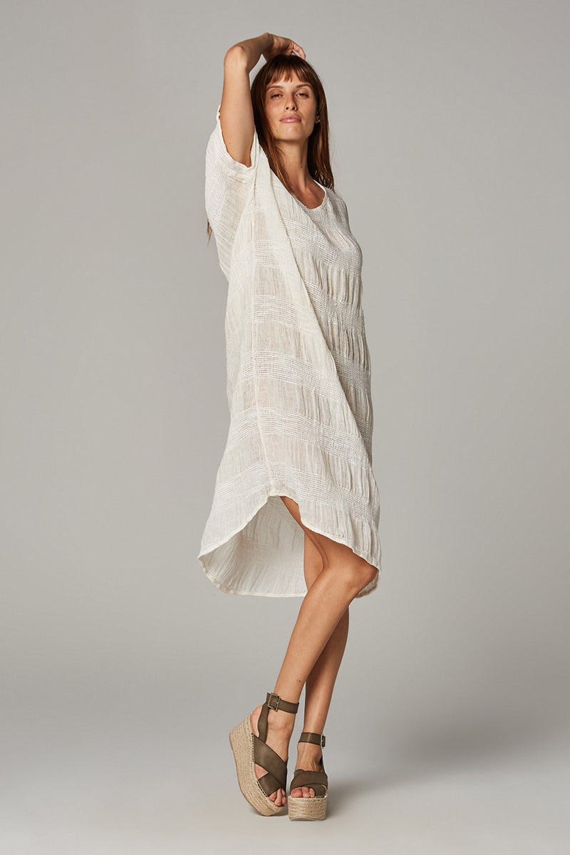Deia Dress - Yin Stripe Panna