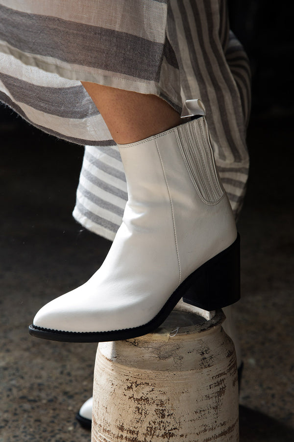 Walk This Way Boot White